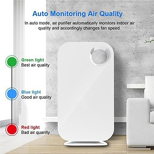 Air Purifier 5 Stage HEPA Filter Ionic Smoke Odor Dust Remover anti Allergies