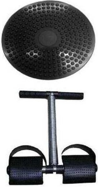 Pack of 2 - Twister Disc & Tummy Trimmer - Black
