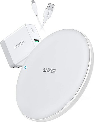 Wireless Charger with Q C Adapter PowerWave 7.5 Pad An ker with Internal Cool...