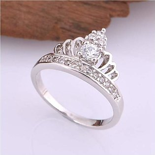 Discounted shop Silver 1K Original Crown Design Ring For Women