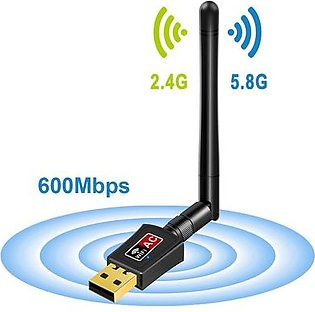 Foktech Wifi Dongle, Dual Band Wireless Network Usb Wifi Adapter For Pc Desktop Laptop, Support Windows, Macbook, Linux