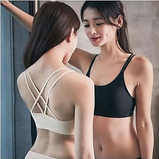 Best Quality Sports Bra Black And Skin Pack Of 2 Pcs