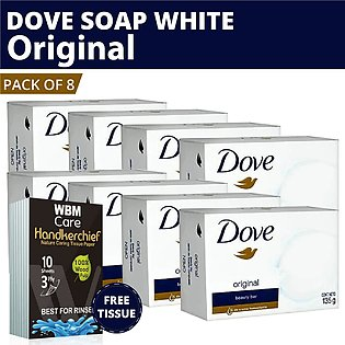 Dove Soap White (Original) Beauty Bar- (Pack of 8) |Made in Germany