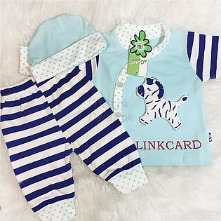 Best Quality Winter Collection 3 Piece Newborn Suit Clothes for 0-6 months with…