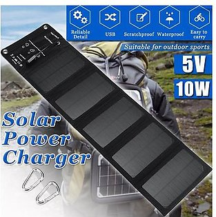 【Free Shipping + Flash Deal 】Solar Panel Power 5V 10w Folding Solar Panel For Cell Phone Charger/Camping