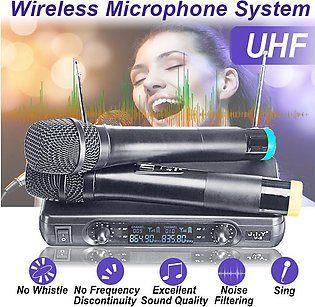 【Enjoy what you want】【ElectricMall】Pro Wireless Microphone Mic System Dynamic 2…