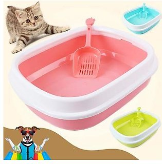 1414 Pet Cat litter tray with scoop 14  x 14  inch Pet Cat Litter Box Large Siz…