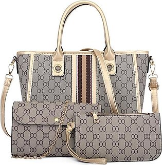 Ladies Purse Handbag Set Pu Leather comes with multi pieces set