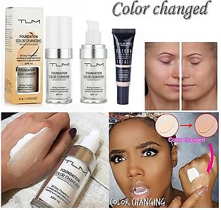 Face Liquid Cover Concealer Colour Changing Foundation Makeup Base Nude Beauty Product