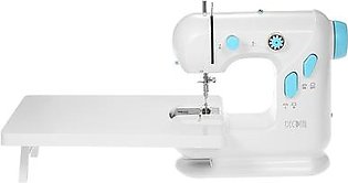 Decdeal Multifunctional Electric Household Sewing Machine with Extension Table Double Thread Double Speed LED Light Foot Pedal AC100-240V