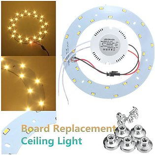 12W 24 LED 5730 SMD Panel Circle Annular 1320LM Replacement Ceiling Light Board…
