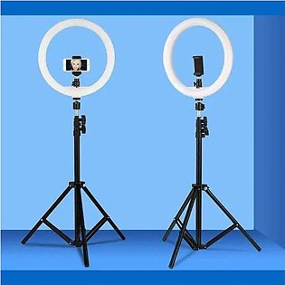 Tiktok LED Selfie Ring Light With Stand 3 Colours Dimmable Fill Light Camera ...