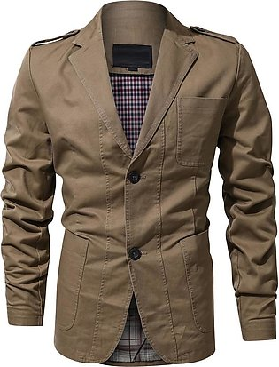 Men's Stylish Casual Solid Turn-down Blazer Business Outwear Coat Suit Tops