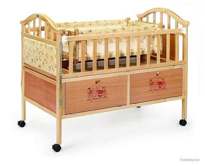 Baby Cot Crib Toddler Bed with Swing