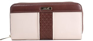 Kallis Spacious Two Colour Original Leather Wallet with Quilting for Women