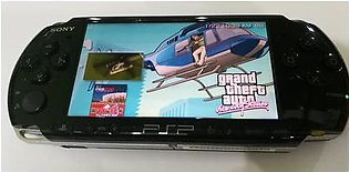 psp sony black used 34 games install