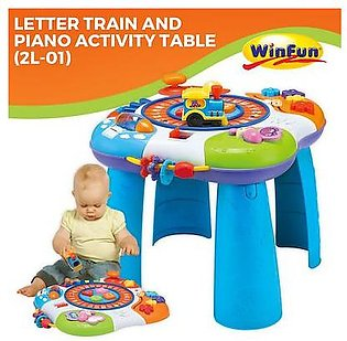 Letter Train and Piano Activity Table Kids Toy