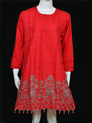 Cotton Lawn Embroidered Kurta For Women