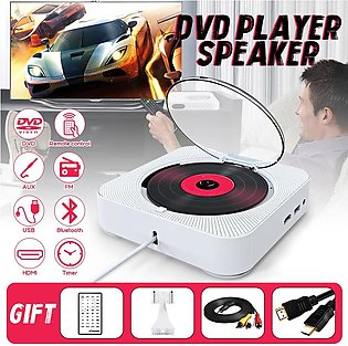 【 Flash Deal】Bluetooth 4.2 Wall Mountable HDMI DVD CD Player Speaker RC FM Ster…