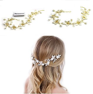 Hair Bridal Accessories Hairpin White Pearl Studded Party Bride Headpiece Headd…