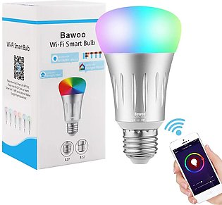 Bawoo WiFi Smart Bulb LED Bulb Dimmable RGBW Compatible with Amazon, Google -...