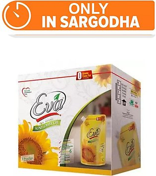 Eva Sunflower Canola Oil - Pack of 5 (One day delivery in Sargodha)