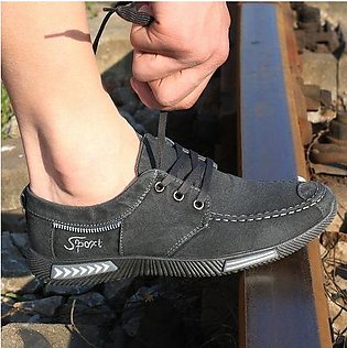 Men's Breathable Canvas Shoes Casual Fashion Sneakers
