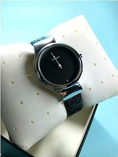 Xenlex Watch Analog Leather Strap Girls Watch - Black For Ladies Watches
