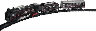 Train Set for Kids - Battery Operated - Black