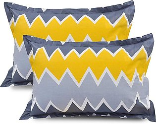 Pack of 4 Pillow with Beautiful print (Pair) Filling 100% Imported Polyester Ba…