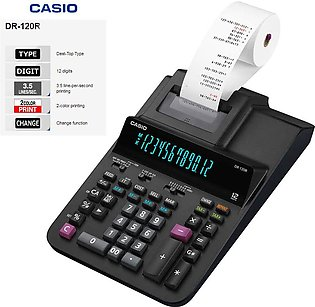 Casio Original DR-120R Print Printing Calculator