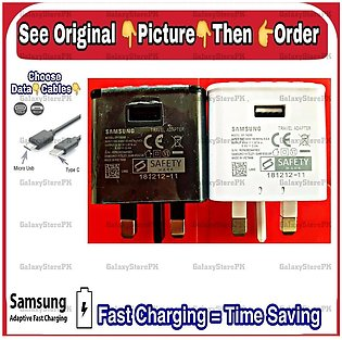Galaxy J2 Core - 3 Pin FAST Charger - High Quality Compatible With ALL Smartp...