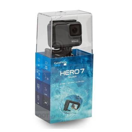 GoPro HERO7 Waterproof Digital Action Camera with Touch Screen 4K HD Video 10MP Photos Silver