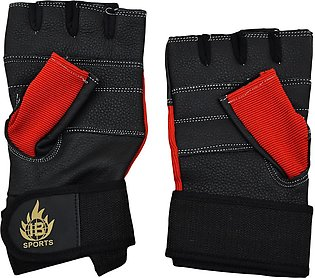 2 Pcs Gym Gloves - Red