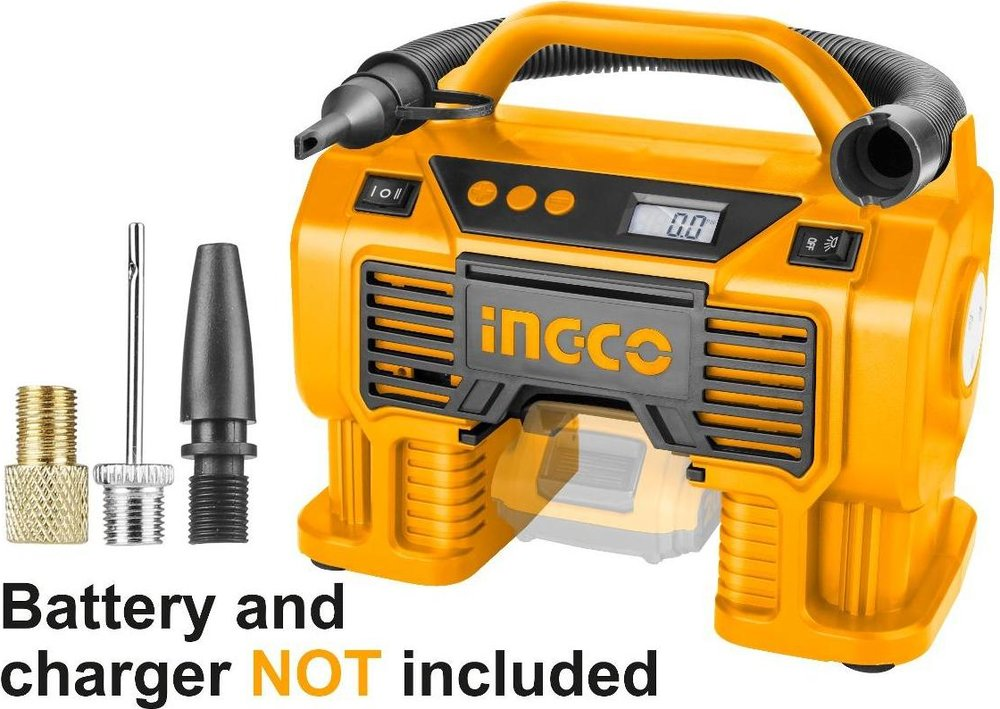 Lithium-Ion auto air compressor WITHOUT Battery and Charger
