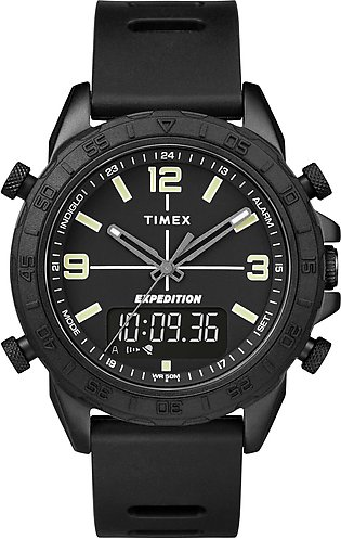 Timex Expedition Pioneer Combo 41mm Black Silicone Strap Watch for Men-TW4B17000