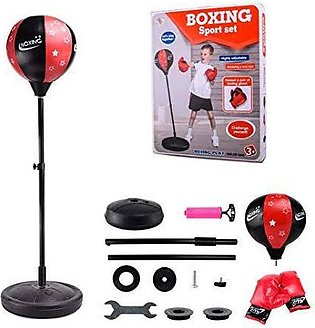 Tech Tools Boxing Ball Set with Punching Bag Boxing Gloves  Hand Pump & Adjus...