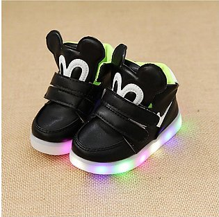 M Spring Led Children Shoes With Light Kids Casual shoes Boys Girls 21-25 bla...