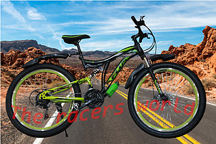 Plus 26 inch bicycle - cycle with double shocks and 10 gears front and rare mou…