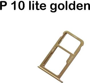 Huawei P10 Lite Golden Sim Card Tray And Micro SD Card Slot Holder