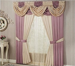 Fancy Cotton Satin Curtain For Home/Office 18