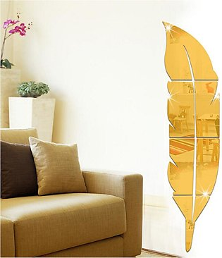 Removable Decals Mirror Feather Home Decor Art PVC Room ation DIY Wall Stickers