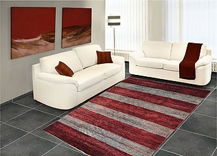 5 X 6 Maroon Color Area Rug Modern hand-knotted rug & carpets in Gabbeh Design
