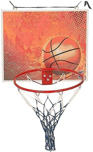 Basket Ball Ring Net & Board - Adult Size - Multicolor