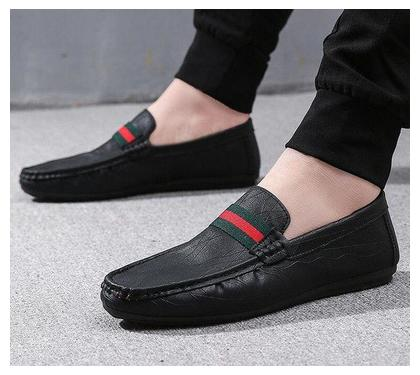 2018 Summer PU Leather Shoes Men Casual Moccasins Mens Slip-On Loafers Breathable Driving Shoes mens formal shoes