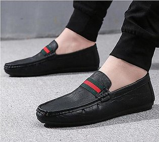 2018 Summer PU Leather Shoes Men Casual Moccasins Mens Slip-On Loafers Breath...