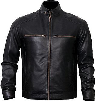 DE - MARCA Markhor - Moto Leather Jacket Men, Lambskin Leather Handmade Elega...