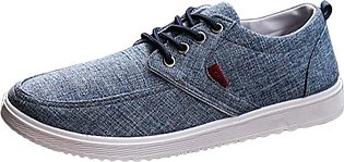 BlingBlingStar Men Round Toe Lace-up Flat Canvas Shoes Casual Comfortable Shoes