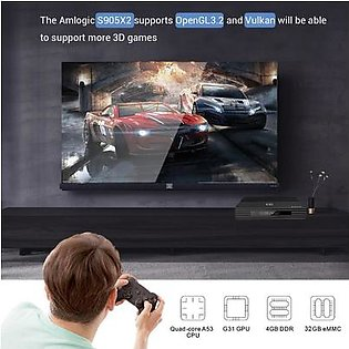 Android TV Box, A95X F2 S905X2 4G + 64G Dual Band Wifi + BT Smart Quad Core TV Box for Android 9.0