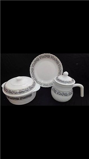 72 Pieces - Marble Dinner Set For 8 Person